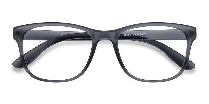 Matte Gray Milo -  Plastic Eyeglasses