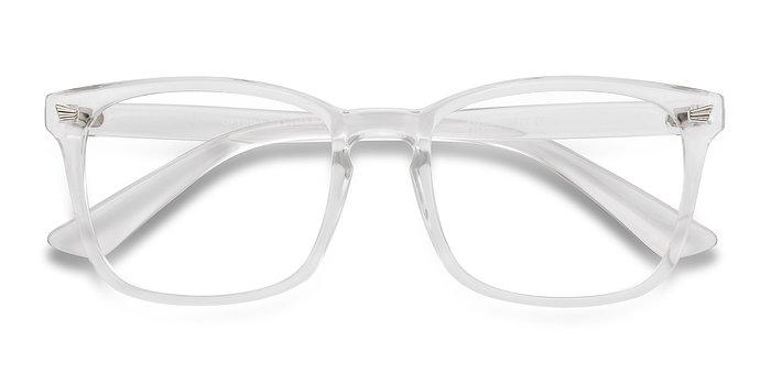 clear uptown plastic eyeglasses
