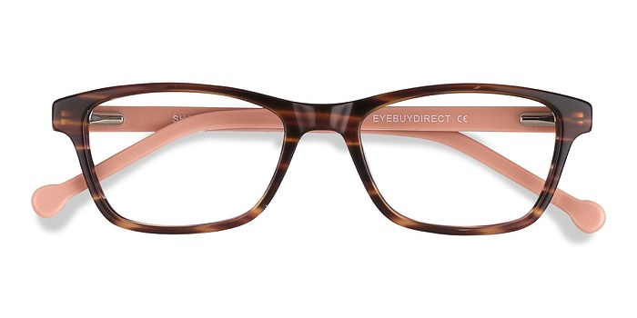 Brown Striped Shallows -  Acetate Eyeglasses