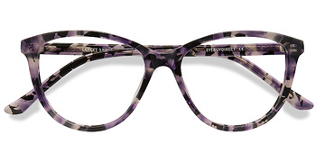 Purple Floral Lancet -  Acetate Eyeglasses