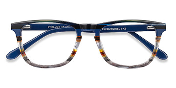 Blue striped Prelude -  Acetate Eyeglasses