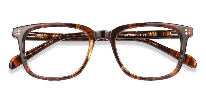 Brown striped Kent -  Acétate Lunettes de Vue