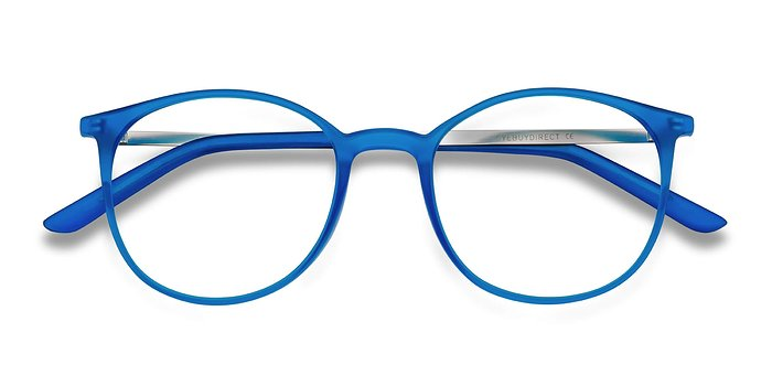 Blue Tangent -  Metal Eyeglasses