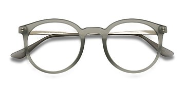 Matte Gray Grin -  Metal Eyeglasses