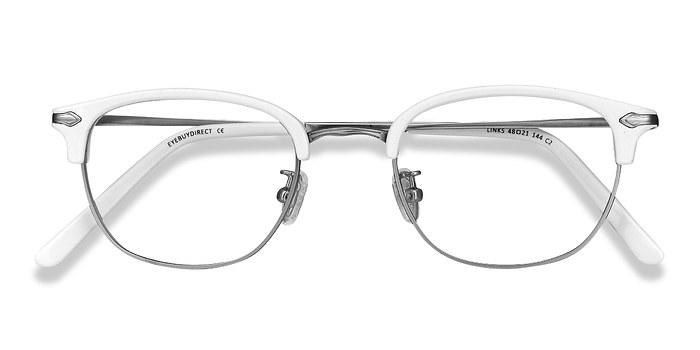 White Links -  Metal Eyeglasses