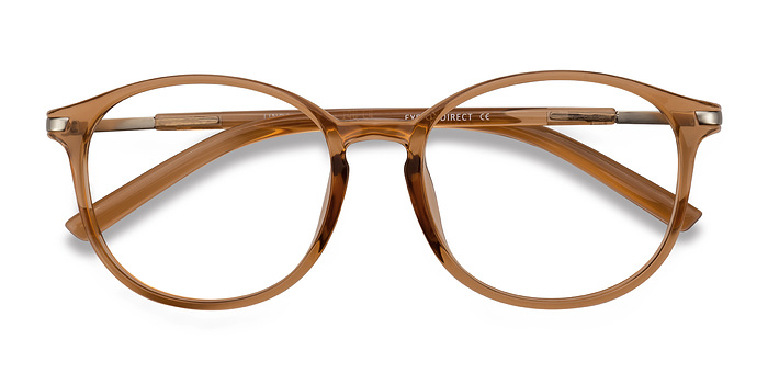 Clear Orange Lindsey -  Metal Eyeglasses