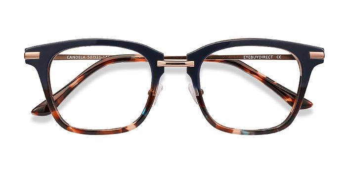 Blue Floral Candela -  Acetate Eyeglasses