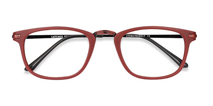 Burgundy Catcher -  Metal Eyeglasses