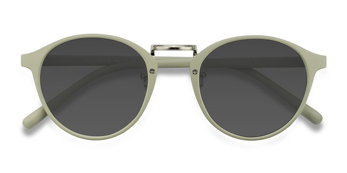 Light Green Millenium -  Plastic Sunglasses