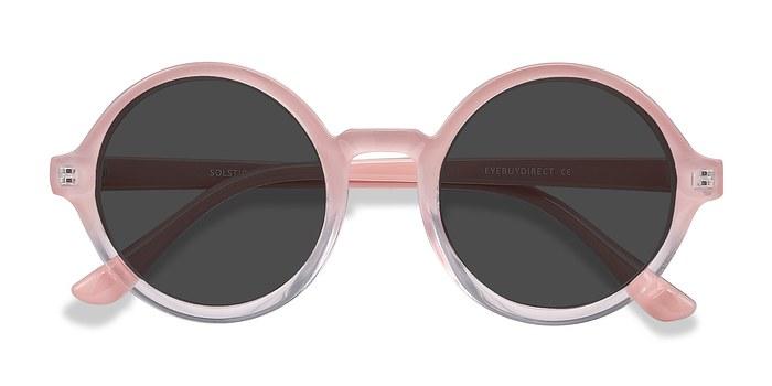Pink Clear Solstice -  Plastic Sunglasses