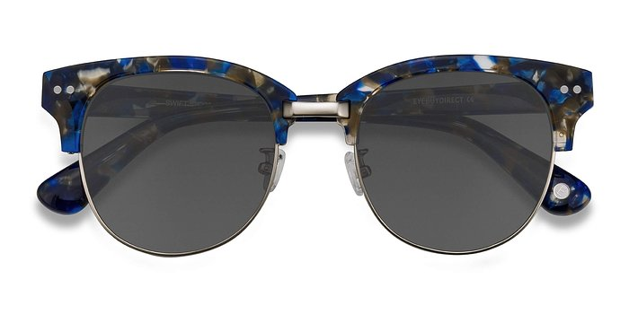 Blue Mosaic Swift -  Acetate Sunglasses