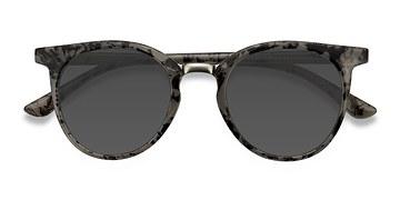 Gray Floral Lulu -  Metal Sunglasses